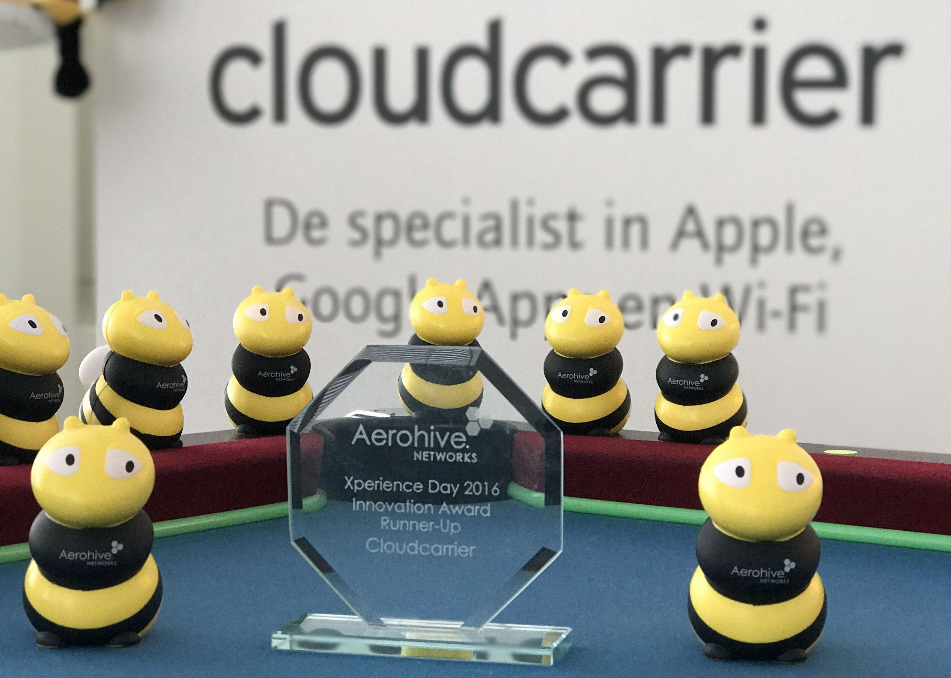 Cloudcarrier Aerohive (nu Extreme Networks) Innovation Award Runner-Up