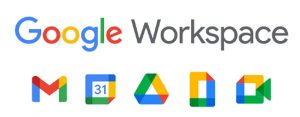 Google Workspace logo with application icons